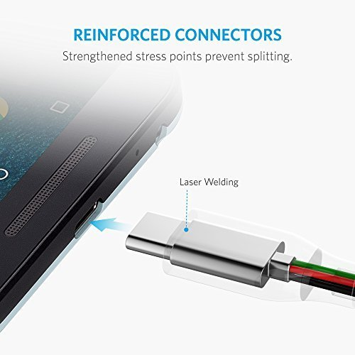 USB Type C Cable, Anker PowerLine+ USB C to USB 3.0 cable (6ft), High Durability, for Samsung Galaxy Note 8, S8, S8+, S9, MacBook, Sony XZ, LG V20 G5 G6, HTC 10, Xiaomi 5 and More by Anker (Image #1)