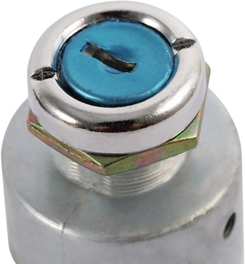 Weihan Car Engine Start Button Switch-Marine-LKW Traktor-Z/ündung-Starter 12V Universal-Z/ündschloss mit 2 Schl/üsseln Silber