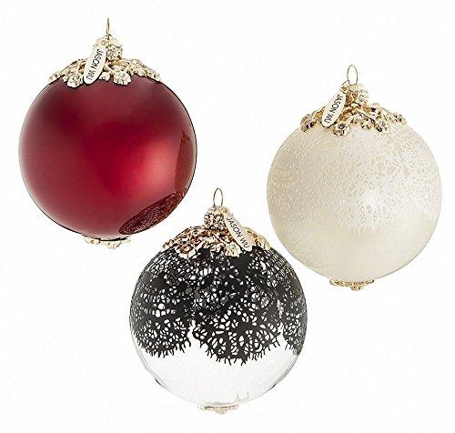 Jason Designer (Jason Wu Neiman Marcus Holiday Ornament Set of 3 Elegant Designer Xmas Balls)