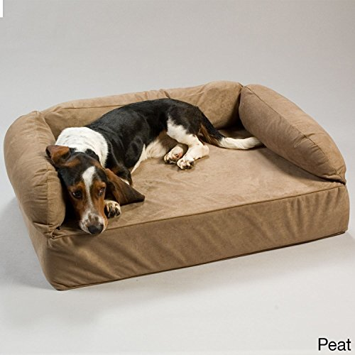 Snoozer Pet Products - Luxury Dog Sofa with Memory Foam | X-Large - Peat