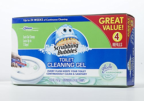 Scrubbing Bubbles Glade Rainshower Toilet Cleaning Gel 4