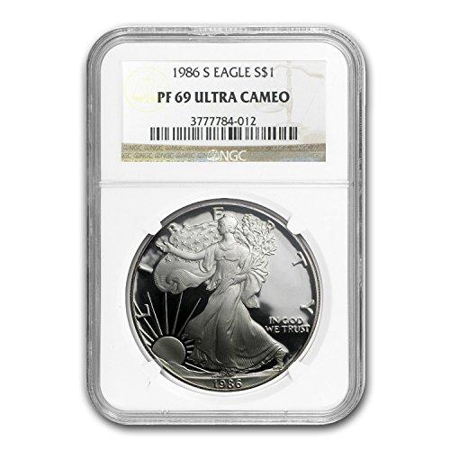 1986 S Proof Silver American Eagle 1 OZ PR-69 NGC