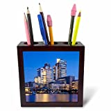 3dRose Danita Delimont - Cities - Netherlands, Amsterdam. Omval Commercial District, office towers - 5 inch tile pen holder (ph_277775_1)