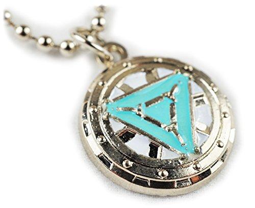 Iron Man Heart Vibranium Reactor Arc Glow Pendant Necklace w/ Chain (Iron Arc Reactor compare prices)