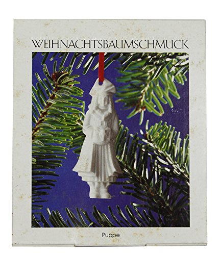 Weihnachtsbaumschmuck Hutschenreuther Bisque White Winter Girl Porcelain Doll Christmas Tree Ornament