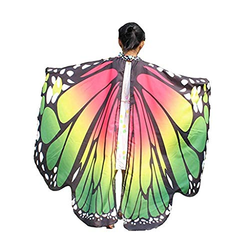 EONGERS Cartoon Butterfly Wings Costume Play Butterfly Wings for Kids (Red and Green1)