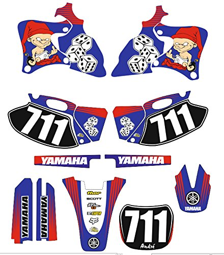 Yamaha yzf 426 200 bonequinho MOTO MX Decal Sticker Kit (Non OEM) Glenshane Graphics