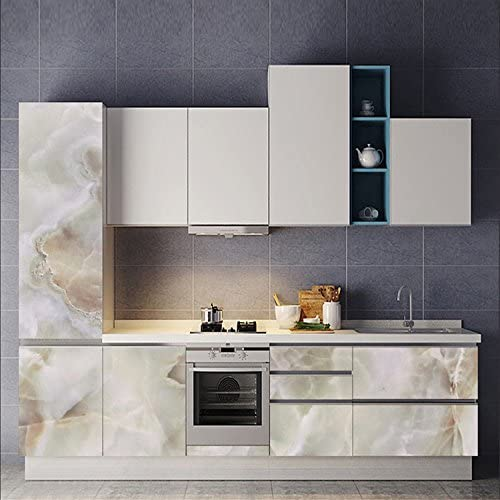 Amazing Wall Faux Marble Sticker Wall Decal Self Adhesive Waterproof Oilproof Home Decor Art Mural Wallpaper 15 7x70 87 Home Kitchen