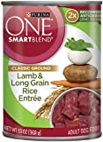 Purina ONE SmartBlend Wet Dog Food, Classic, Ground Lamb & Long Grain Rice EntrÃÂe, 13-Ounce Can by Purina ONE