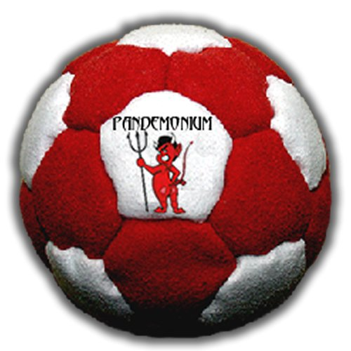 Footbag Inferno 32 Panels Hacky Sack Bag Pellets & Iron Weighted At 2.1 Onces by Pandemonium Footbag
