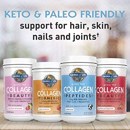 Garden of Life Grass Fed Collagen Peptides Powder - Unflavored, 14 Servings - Collagen Powder for Women Men Hair Skin Nails Joints, Collagen Protein Powder, Collagen Supplements, Hydrolyzed Keto 11