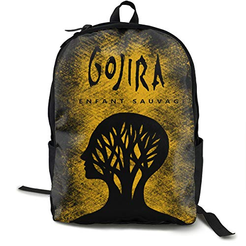 Gojira L'Enfant Sauvage Backpack for Women Men, Canvas College Student Rucksack Fits 15.6 Inch Laptop and Notebook, Daypack for Travel Outdoor Camping