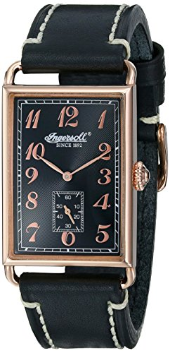Ingersoll Men's INQ005BKRS Salisbury Analog Display Japanese Quartz Black Watch