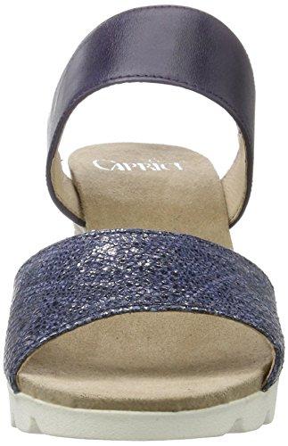 Caprice 28701, Sandalias con Cuña para Mujer Azul (Navy Na.comb)
