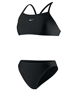 4a60a0965ee06 Image Unavailable. Image not available for. Colour  NIKE Women s Core  Solids Sport 2-Piece Black 14