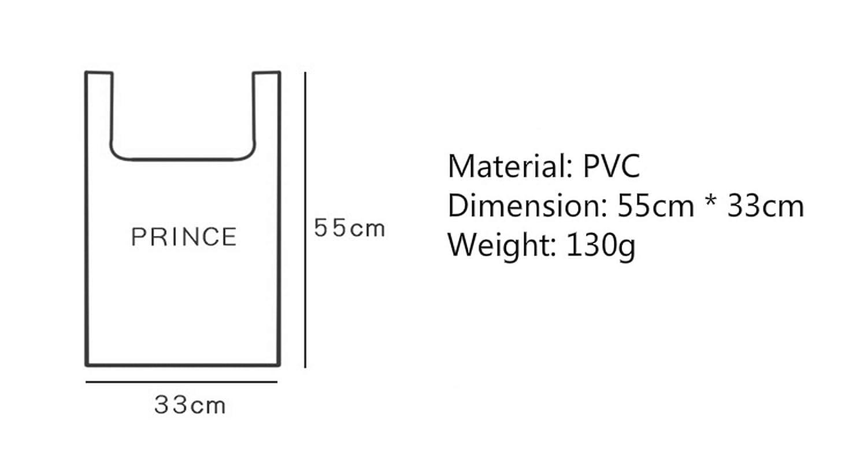 Lonely Vincent LifeCom Clear Tote Bag Sturdy PVC Bag Transparent Shopping Merchandising Bag Top-Handle Shoulder Bag Fashion Bag Gorcery Bags