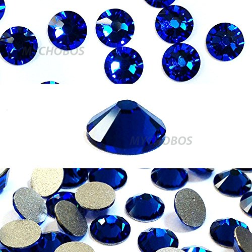 20ss Flat Back Crystals - CAPRI BLUE (243) Swarovski NEW 2088 XIRIUS Rose 20ss 5mm flatback No-Hotfix rhinestones ss20 144 pcs (1 gross) *FREE Shipping from Mychobos (Crystal-Wholesale)*