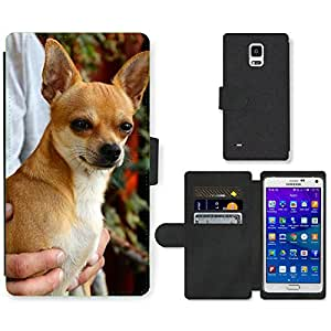 Super Stella Cell Phone Card Slot PU Leather Wallet Case // M00146296 Chihuahua Dog Sobel // Samsung Galaxy Note 4 IV