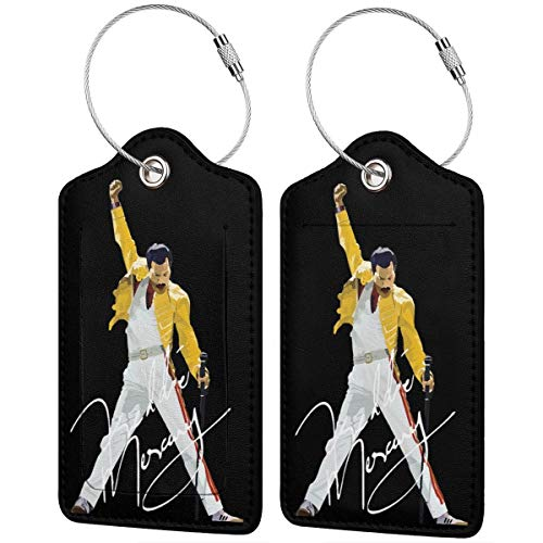 - Fred-die Merc-ury Printed?Leather Luggage Tag & Bag Tag With Privacy Cover - 4 Kinds Of Specifications
