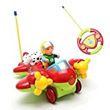 Bert RC Cartoon Airplane Remote Control Plane For Baby Toddlers Kids & Children