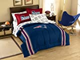 New England Patriots 7 Pc FULL Size Bed in a Bag (Comforter, 1 Flat Sheet, 1 Fitted Sheet, 2 Pillow Cases, 2 Shams) SAVE BIG ON BUNDLING!