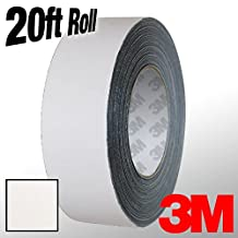 "3M 1080 White Matte Vinyl Detailing Wrap Pinstriping Tape 20ft Roll (4"" x 20ft)"