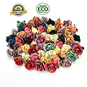 silk flowers in bulk wholesale Artificial Flower Silk Carnation Flower Head Wedding Party Home Decoration DIY Wreath Gift Box Scrapbook Craft 30pcs/lot 3CM(Multicolor) 31