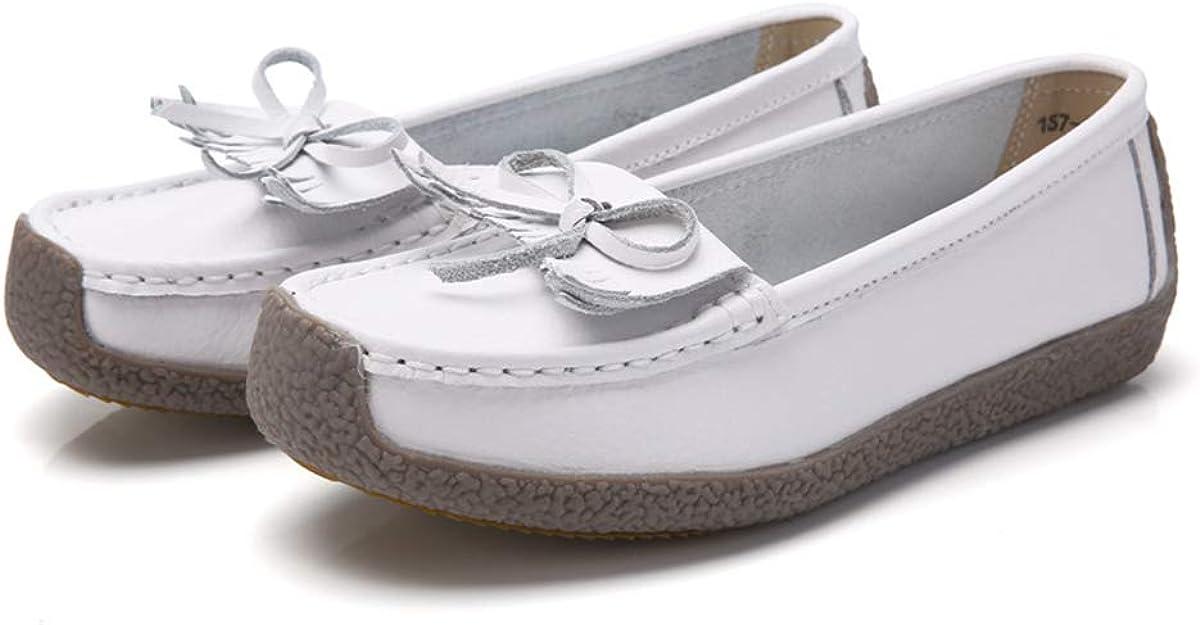 Daytwork Chaussures Femme Mocassins Noeud Plat a Enfiler