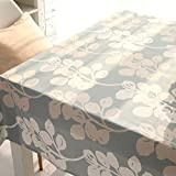 Nordic style stylish table table cloth tablecloth , blue gray , 140*200cm