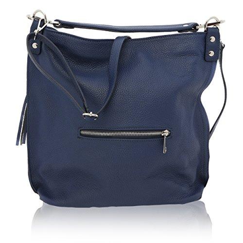Sac Porté pour Cuir 14 cm épaule Véritable Bleu in Made 29 Femme 33 Florence pFpUq