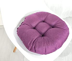 Round Chair Cushions Seat Pads,Indoor/Outdoor Round Chair Pad,Soft Thick Comfy Dining Room Kitchen Chair Replacement Seat Pads Cushion Pillow for Home Office Car Patio Garden Furniture (R)