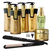 Keratin Cure Gold and Honey Bio Professional Formaldehyde Free Smoothing Complete Kit with Iron (300ml / 10 fl oz) Review