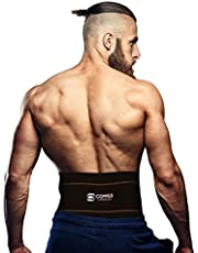 Copper Compression Recovery Back Brace - Highest Copper Content with Infused Fit. Back Braces for Lower Back Pain Relief. Lumbar Waist Support Belt for Men + Women