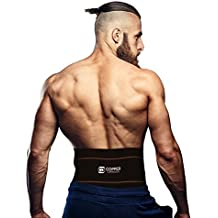 Copper Compression Recovery Back Brace - #1 GUARANTEED Highest Copper Content With Infused Fit. Waist Support Belt / Lower Back Lumbar Wrap For Men & Women. Works Great For Sitting, Walking, Sports