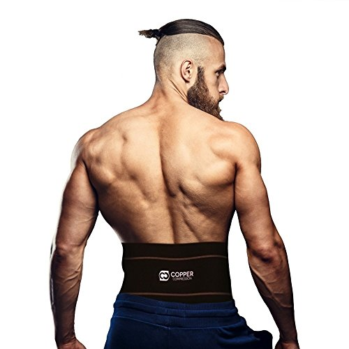 Copper Compression Recovery Back Brace - #1 GUARANTEED Highest Copper Content With Infused Fit. Back Braces For Lower Back Pain. Waist Support Belt and Lower Back Lumbar Wrap For Men & Women. Relief