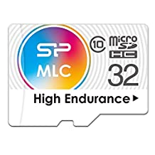 Silicon Power 32GB High Endurance MLC micro SDHC Memory Card for Dash Cam and Security Camera, with Adapter