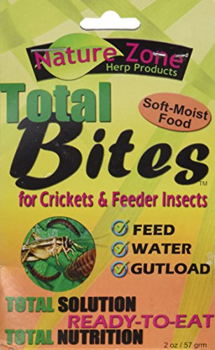 Nature Zone SNZ54510 Feeder Insects Total Bites Soft Moist Food with Spirulina, 2-Ounce