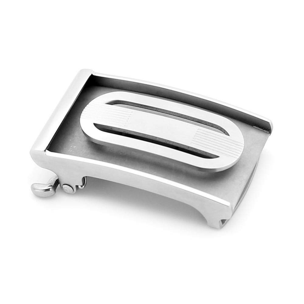 Defect Hebilla Hebilla de cinturón de Plata Cabeza de Moda Cabeza Plata Pulido a Mano de Acero Inoxidable Hebilla automática d8544b