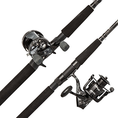 Abu Garcia Catfish Commando Fishing Rod and Reel Combo, 7 Feet, Medium Heavy Power