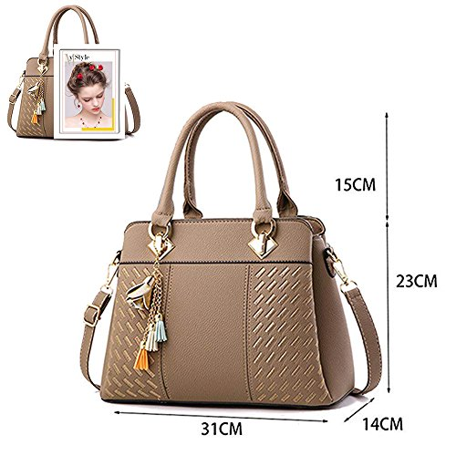 Ladies Satchel Tote Womens Bags Shoulder Khaki and Top Designer Bags Handbags Messenger Handle Bag Purses Hr8WUOr