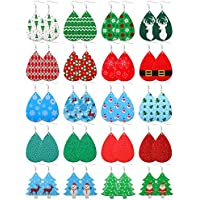 20-Pairs FUNEIA Leather Women's Earrings