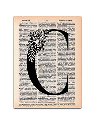 C - Monogrammed Gift - Dictionary Page Art Print, 8x11 for sale  Delivered anywhere in USA