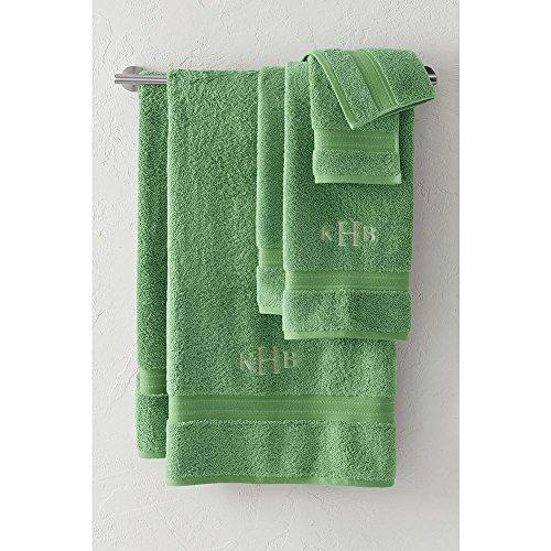 Lands' End Supima Towel 6-piece Set, , Fresh Kiwi (Hand Monogrammed Towel)