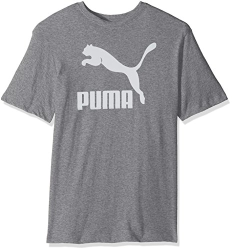 PUMA Men's Archive Life T-Shirt Shirt, Medium Gray Heather-White, M (Mens Heather Gray Life)