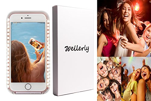 Wellerly iPhone 7 Case, iPhone 8 case, LED Illuminated Selfie Light Cell Phone Case Cover [Rechargeable] Light Up Luminous Selfie Flashlight Case for iPhone 7 / iPhone 8 4.7inch (Rose Gold) by Wellerly (Image #5)