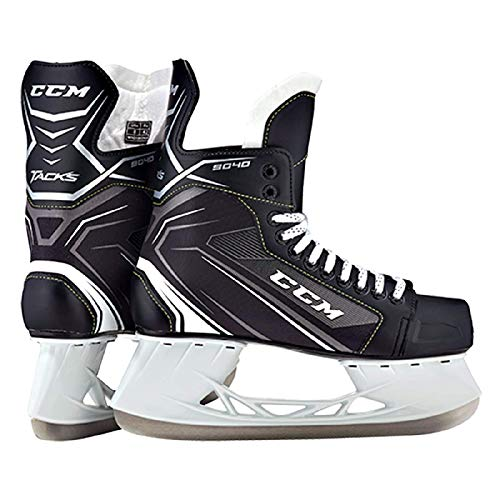 CCM Unisex SK9040 Player Tacks YT Hockey Skate, Youth, Black, 13D