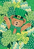 Bear Clovers – Happy St. Pats Day – Standard Size Decorative Flag 28 X 40 Inches Review