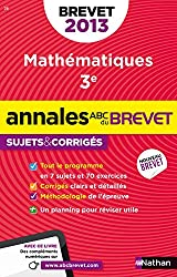 ANNALES BREVET 2013 MATHS CORR