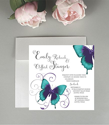 Amazon Butterfly wedding invitations wedding invitations – Wedding Butterfly Invitations