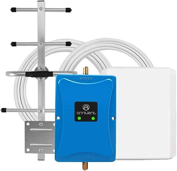 ANNTLENT Amplificador de Señal Móvil 4G LTE 800MHz Band 20 Repetidor de Teléfono Celular gsm Band 8 3G 900Mhz 70 dB Mejora Datos y Voz para ...